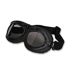 Retro Motorbike Motocross Helmet Pilot Goggles Jet Aviator Vintage Wwii Pilot Goggles Motorcycle Scooter Glasses UV For Helmet(China)