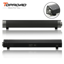 Toproad Bluetooth Speaker Soundbar Slim Altavoz Portatil Mini Speaker Bluetooth Stereo Speaker Subwoofer Boombox For Computer TV(China)