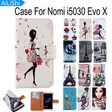 AiLiShi Flip PU Leather Case For Nomi i5030 Evo X Case Cute Cartoon Painted Protective Cover Skin In Stock