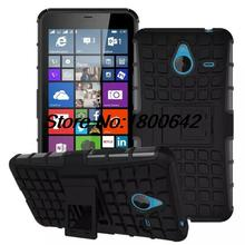 Tire Style Tough Rugged Dual Layer Hybrid KickStand Duty Armor Case for Microsoft Nokia Lumia 640XL Kick Stand Armor Phone Bags