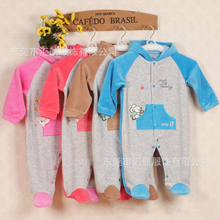 2017 Newest Velour baby jumpers infant casual jumpsuits baby One-Piece Romper Children's garment for newborn pram suit apparel
