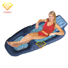 2016 New Luxury Comfort Deck Chair Water Floating Raft Blue Adults Pool Float Outdoor Furniture Sofa Swimming Board Luchtmatras