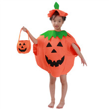 Halloween Decoration Props Stereo Hand bag Non Woven Pumpkin Gift Hand Basket With Smile For children Cosplay Entertainment(China)