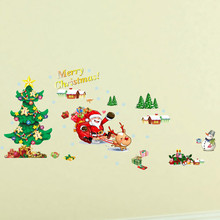 2018 Merry Christmas Decorations Household Goods Room Wall Sticker Mural Decor Decal vinilos decorativos para paredes#28(China)