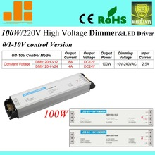 Free Shipping Hot sale 100W dimming LED driver, 0-10V Dimmable switch, 220V LED driver, 1 channel DM9120H-V series