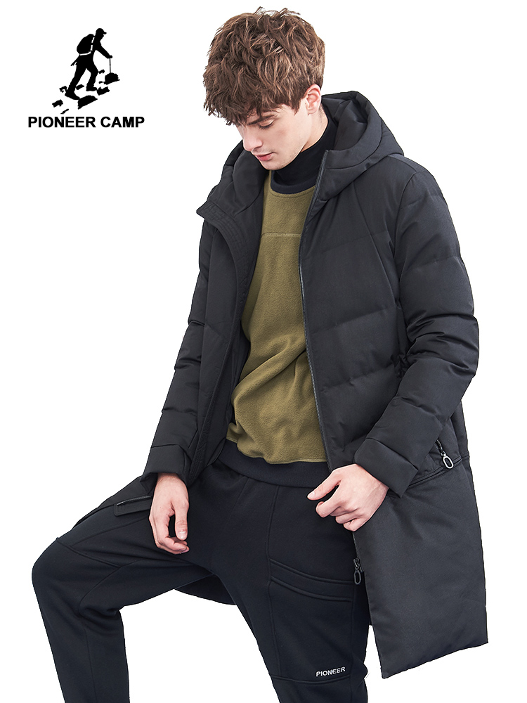 Pioneer Camp men winter jacket brand clothing thick warm long parka men quality male winter coat AMF801396