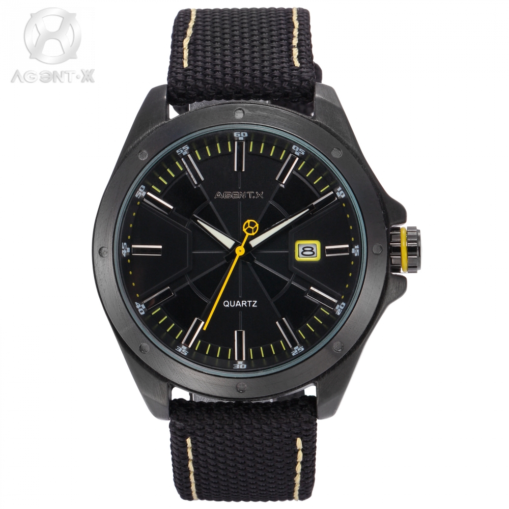 Original AgentX Brand Grosse Montre Pour Homme Nylon Material Complicated Dial Unique Designed Movement Watch Gift Box / AGX148 <br>