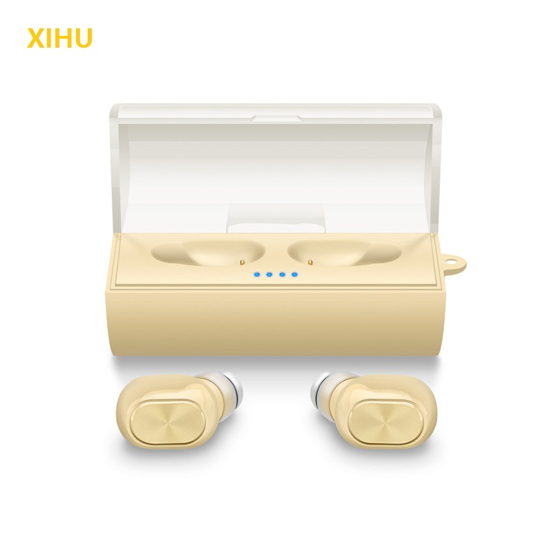 XIHU Mini Bluetooth Earphones Stereo Separate Binaural Wireless Earphone Headset Power Supply Box Music Eaephone for Phone<br>