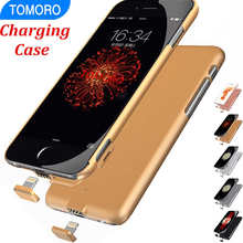 Rose Gold Luxury Silver Gray Charge Case For iPhone 6S iPhone 6 Plus Charger Case Smart Battery Cover Power Bank Wireless Fit On