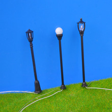 300pcs/lot Model Train Railway Architecture Street Lights Lamp Lamppost HO 1:100 model ABS plastic street light(China)