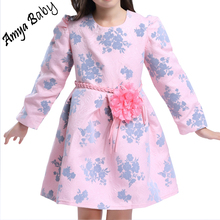 2017 New Kids Costume For Girls Long Sleeve Princess Dresses Spring Autumn Girl Tutu Dresses For Party Brand Girls Easter Dress