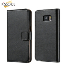 KISSCASE Flip Leather Case For Samsung Galaxy S7 s6 / Edge Case Magnetic Wallet Stand Pouch Bag For Samsung S7 Edge S6 Edge Capa