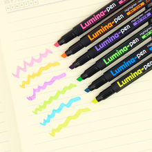 1 PC Classic Lumina Pens Highlighter for Paper Copy Fax DIY Drawing Marker Stationery Office Material