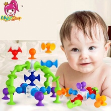 Mylitdear Squigz Sucker Cup Toys For Children DIY Silicone Building Blocks Assembled Toys Squigz Building Blocks Squigz Toys(China)