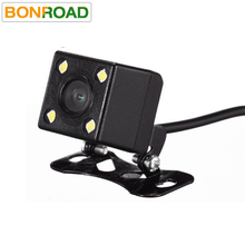 Back Camera HD CCD 4 LED Night Vision Car RearView Camera Wide Angle Universal Car Reverse Camera Car Backup Parking Camera(China)