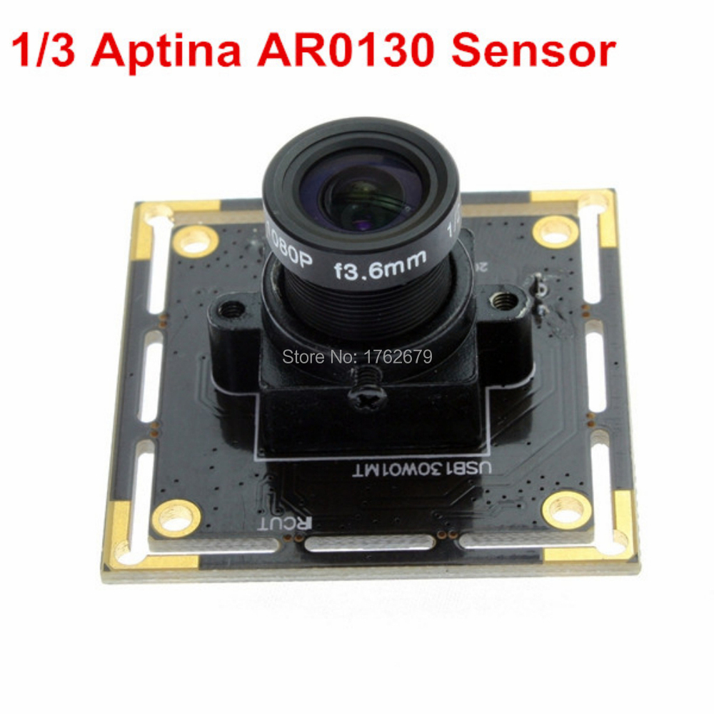 Mini illumination 0.01lux HD 1.3MP Aptina AR0130 UVC plug and play micro cmos usb monochrome board camera with 8mm lens<br>