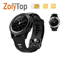In stock H1 IP68 Waterproof Samrtwatch Support Heart Rate Monitor GPS 3G WIFI Nano SIM with 5.0M HD Camera