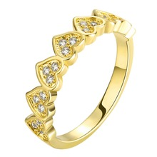 Fervent love Zircon ring 18k gold/rose gold/platinum plated fashion Jewelry for wedding/birthday gift for girl women