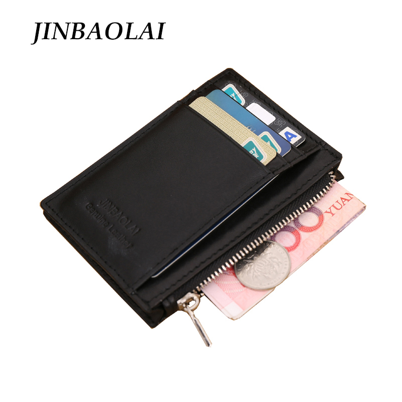 New Men Genuine Leather Wallet ID Credit Card Holder Travel Wallet With Zipper Coin Purse Famous Brand Mini Money Case<br><br>Aliexpress