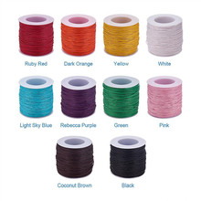 100yard Waxed Thread Cotton Cord 1mm String Strap Fit shamballa Bracelet Necklaces Jewelry Findings for DIY ,about 27colors(China)