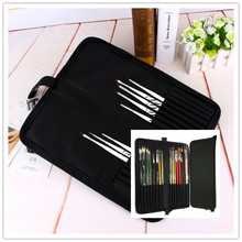 16 holes Portable Professional oil painting brush watercolor brush case knife Paper Pen case Drawing Set acrylic set Bag only(China)
