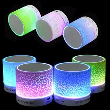Portefeuille Portable Mini LED Bluetooth Wireless Music Audio TF USB Light Stereo Sound Speaker For Phone Xiaomi mi caixa de som