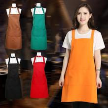 Unisex Waterproof Sleeveless Solid Bar Cafe Kitchen Cooking Chef Painting Apron 10 Colors(China)