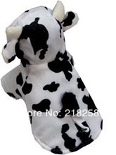 Retail New Coming Cow Style Pet Dogs Cosplay Coat Free Shipping By china post  new clothing for dog