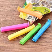 5 pcs/lot colored bag clip Food Snack plastic bag Storage preservation sealing clips flavoring trash pack kitchen household tool