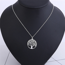 Fashion Gold Wishing Tree Pendant Necklace Women Hollow Out Necklace Jewelry Birthday Gifts Life Tree Silver Necklaces 369131