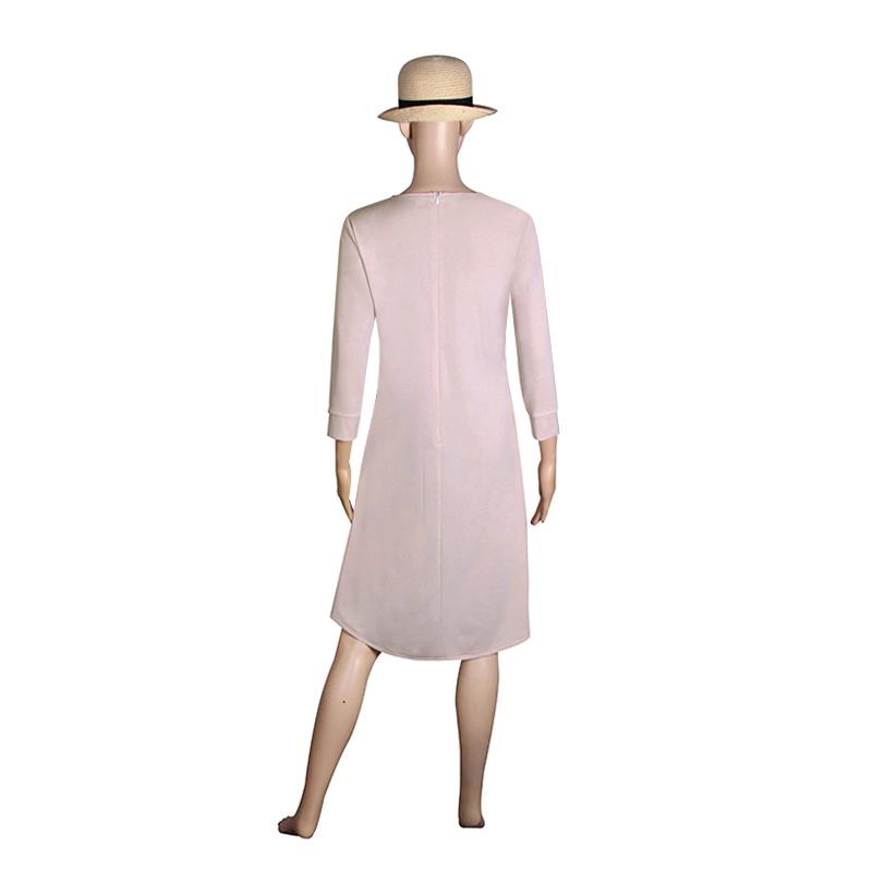 Fashion Women Dresses 2017 Sexy Loose Mini Irregular O-Neck Dress Summer Casual Elegant Dresses Plus Size LJ8789X 8