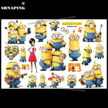 SHNAPIGN Cartoon Minions Child Temporary Tattoo Body Art Flash Tattoo Stickers 17*10cm Waterproof Henna Tatoo Styling Sticker