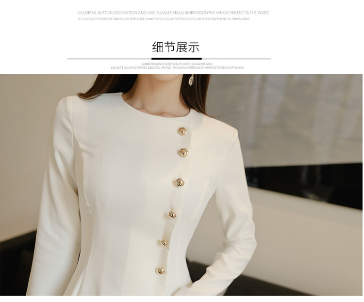 Elegant Dress Women Casual Long Sleeve Dress Office Lady Runway Designers High Fashion Dress 18