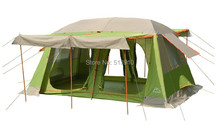 Upgrade pattern!8-10persons 2rooms Super large & super value family outdoor camping tent/party tent