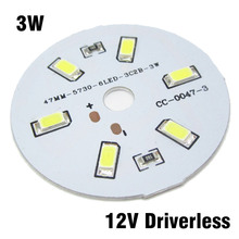 30pcs 12V 3W LED PCB, Input DC12V Directly Driverless SMD5730 Lamp Plate White / Warm White Light Source Panel