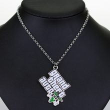 PS4 GTA 5 Game necklace Grand Theft Auto 5 Keychains For Men Fans Xbox PC Rockstar 1 pendant