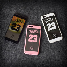 Nba Sport Cell Phone Case for Iphone 7 plus Michael Jordan 23 Fundas Soft Silicone Mirror Iphone 5 Se 6 6s plus Back Cover