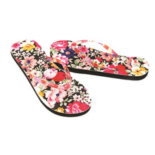 2017 New Fashion Women Flowers Sandal Summer Girl Home Toepost Flip Flops Slippers Beach Shoes 3 Color Best Gift Free shipping