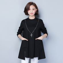 Buy 5xl plus big size women clothing dress 2016 spring autumn korean vestidos thin long sleeve black party dress female A1509 for $21.58 in AliExpress store