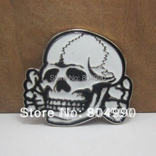Fashion skull belt buckle with silver finish FP-02936 suitable for 4cm wideth snap on belt with continous stock(China)