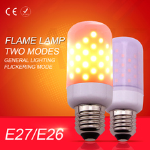 Buy LED Flame Lamp Candle Bulb Corn leds Christmas light 110V Two Modes 2835 E27/E26 Flickering Emulation Decorative Lighting 220V for $6.23 in AliExpress store