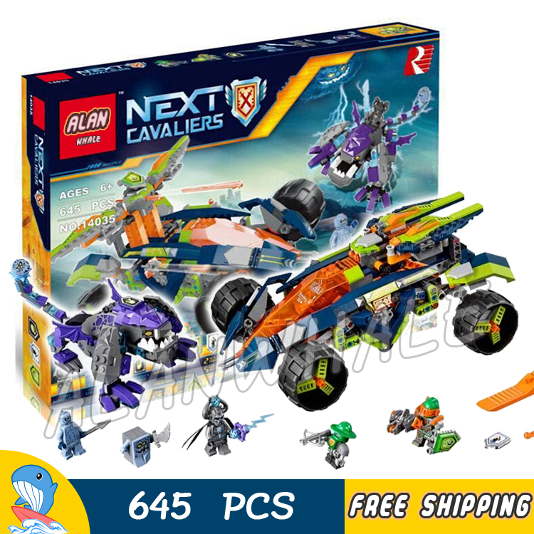 645pcs Knights Aarons Rock Climber Model Building Blocks 14035 Assemble Bricks Children Toys Games Nexus Compatible With Lego<br>