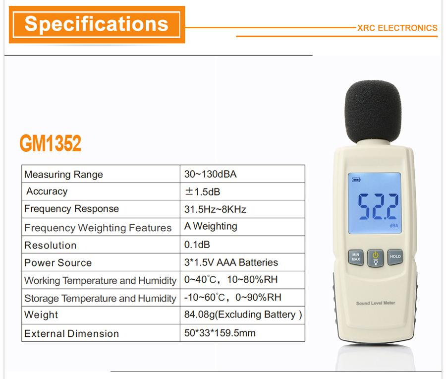 Sound level meters detail description 04