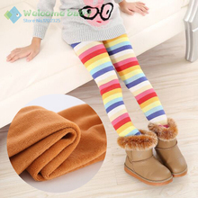 Winter Girls leggings Children kids Pants Plus Velvet Thick Warm Pant Kids Trousers clothing bobo choses iridescence candy color