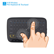 New Real Touch Keyboard 2.4G Wireless Mini Touchpad Mouse Keyboard for PC Laptop Tablet Pad Smart Android TV Box Raspberry Pi 3