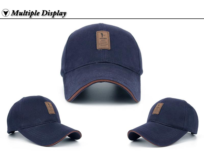 Golfer Emblem Baseball Cap - Front and Angle Views