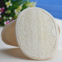 Natural Loofah Sponge Bath Rub Exfoliate Bath Glove Oval Bath Towel(China)