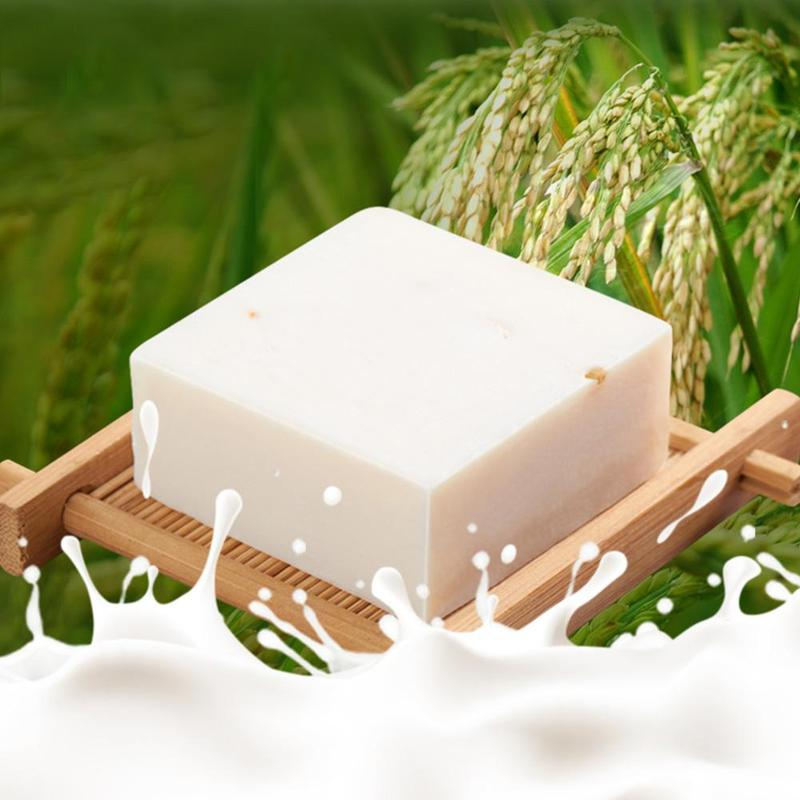 Rice Milk Handmade Soap Whitening Soap Collagen Vitamin Skin Whitening Bathing Tool Rice Milk Soap Rice Soap 5