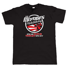 Logo T Shirts 100% Cotton Miyagi'S Auto Detailing Jdm Ae86 Drift Hot Rod Cal Look Crew Neck Short-Sleeve Mens Tee(China)