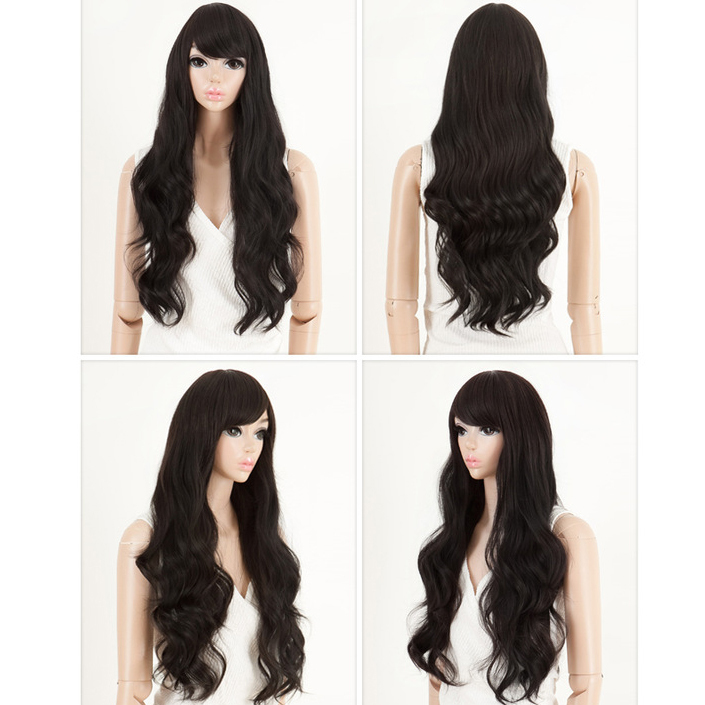 1PC+Free Shipping Long Big Wave Synthetic Hair Wig Long Curly 3Colors maleficent Afro Curly Wigs Caps For Hair Free Wig Cap<br><br>Aliexpress